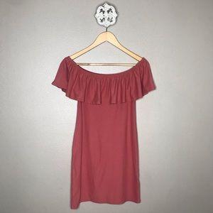 Derek Heart Off-the-Shoulder Bodycon Dress